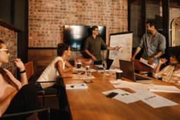 Nonprofit web design agency team planning image