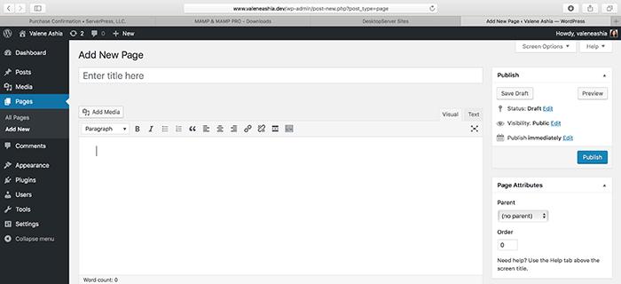 WordPress Page Editor Image