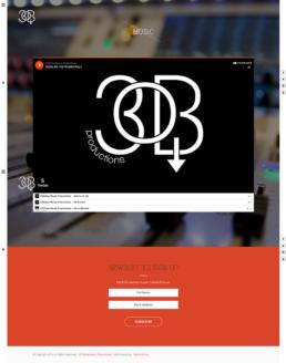 30below music page screenshot