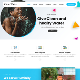 Clean water nonprofit website image