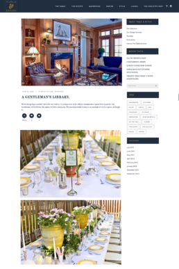 Blog Home Page Screenshot