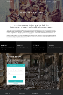 iDream Refugee Services Page Image