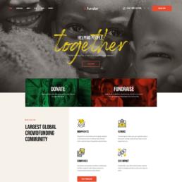 nonprofit website fundraising design image