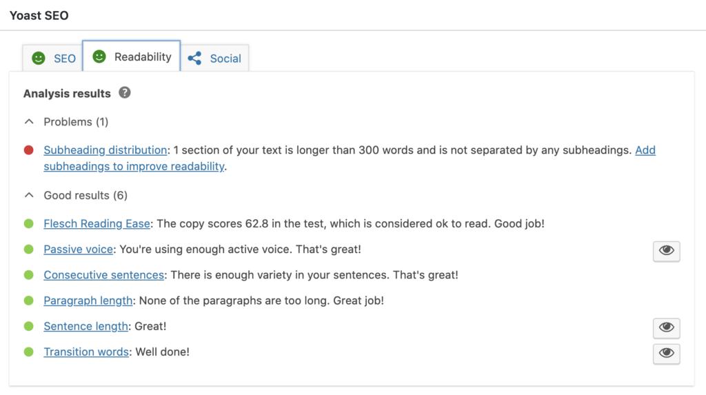 SEO Plugins for WordPress Readability Score Image