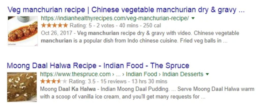 Rich Snippets Recipe Example Image